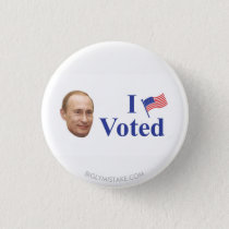 I VOTED PINBACK BUTTON