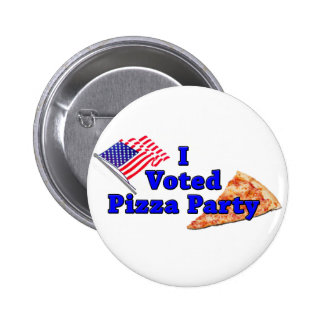 I Voted Pizza Party Buttons