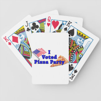 I Voted Pizza Party Poker Deck