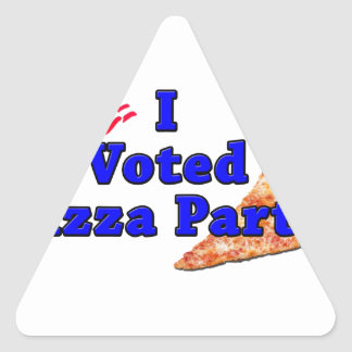 I Voted Pizza Party Sticker