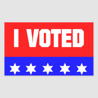 I Voted Rectangular Sticker