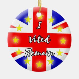 I voted Remain History Ceramic Ornament