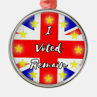 I voted Remain History Metal Ornament