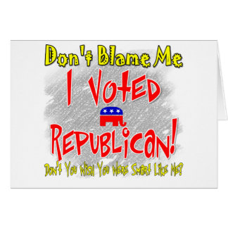 I Voted Republican Greeting Card