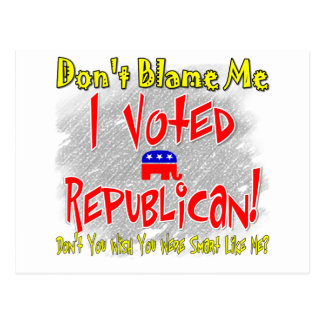 I Voted Republican Postcard