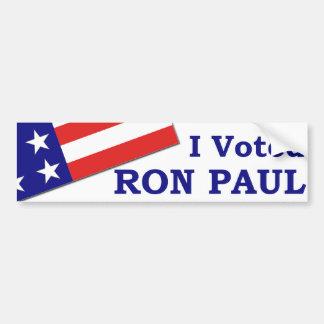 I Voted Ron Paul Bumper Sticker