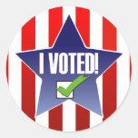 I Voted! Round Stickers