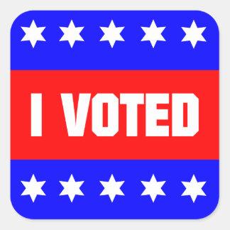 I Voted Square Sticker