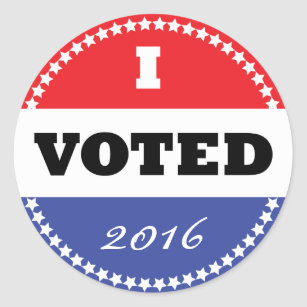 image relating to I Voted Stickers Printable called I Voted Sticker