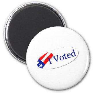 I Voted Sticker Magnet
