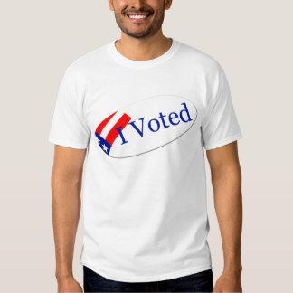 I Voted Sticker T-Shirt
