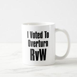 I Voted to Overturn RvW Coffee Mug