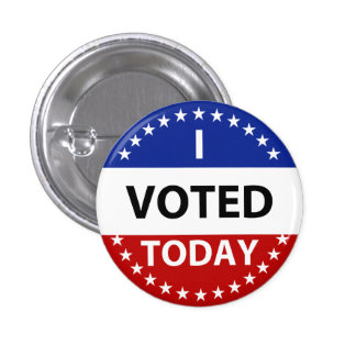 I Voted Today 1 Inch Round Button