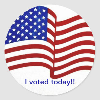 I voted today Sticker