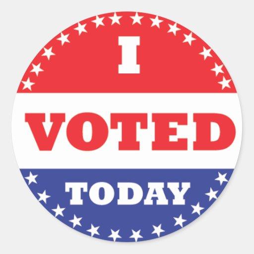 I Voted Today Sticker Zazzle