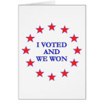 I Voted We Won Stationery Note Card