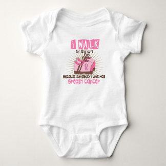 I Walk 1 Breast Cancer Baby Bodysuit