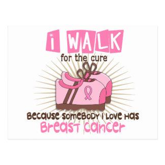 I Walk 1 Breast Cancer Postcard