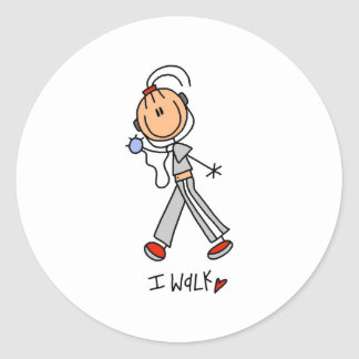 I Walk Classic Round Sticker