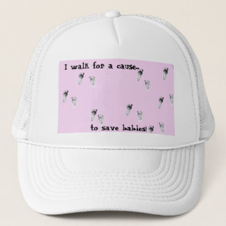 I walk for a cause trucker hat