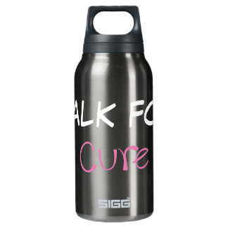 I walk for a cure thermos water bottle