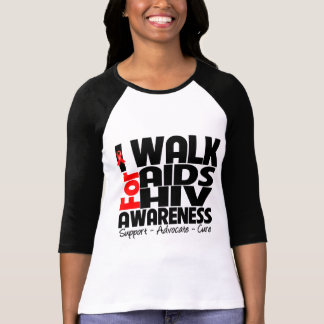 I Walk For AIDS HIV Awareness T Shirt