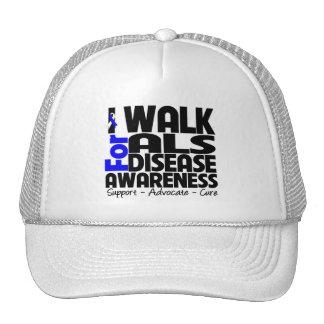 I Walk For ALS Disease Awareness Trucker Hat