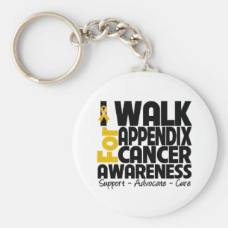 I Walk For Appendix Cancer Awareness Basic Round Button Keychain