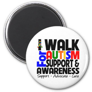 I Walk For Autism Awareness Magnets