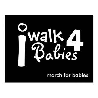 i walk for babies Postcard