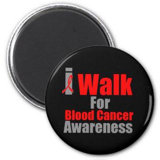 I Walk For Blood Cancer Awareness 2 Inch Round Magnet