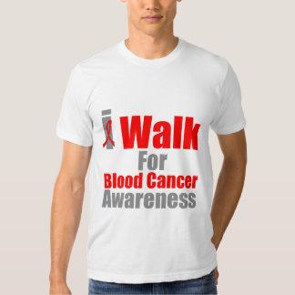 I Walk For Blood Cancer Awareness Tee Shirt