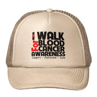 I Walk For Blood Cancer Awareness Trucker Hat