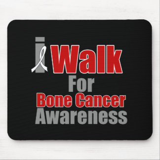 I Walk For Bone Cancer Awareness Mousepads