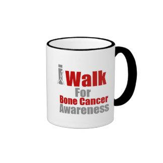 I Walk For Bone Cancer Awareness Ringer Coffee Mug