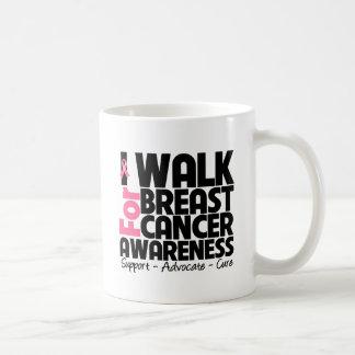I Walk For Breast Cancer Awareness Coffee Mugs