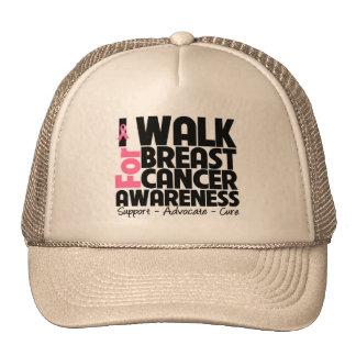 I Walk For Breast Cancer Awareness Hat