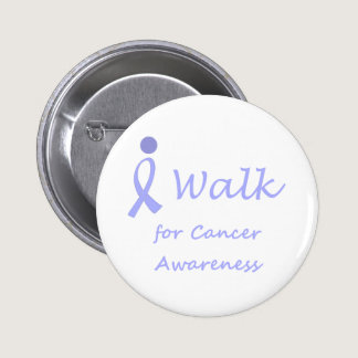 I Walk for Cancer Awareness - Lavender Ribbon Button