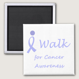 I Walk for Cancer Awareness - Lavender Ribbon Magnet