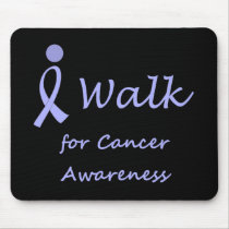 I Walk for Cancer Awareness - Lavender Ribbon Mouse Pad