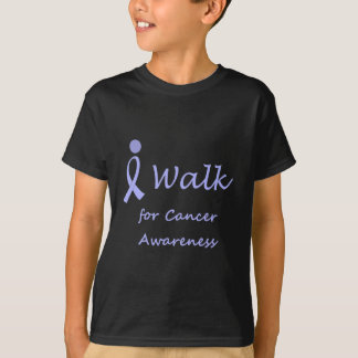 I Walk for Cancer Awareness - Lavender Ribbon T-Shirt