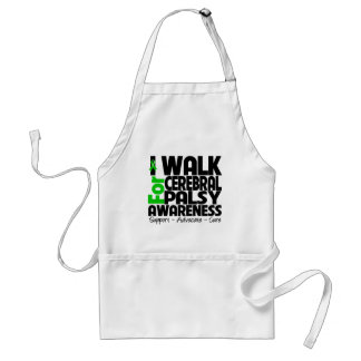 I Walk For Cerebral Palsy Awareness Adult Apron