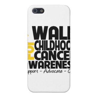 I Walk For Childhood Cancer Awareness iPhone 5 Cases