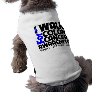I Walk For Colon Cancer Awareness Dog Tshirt
