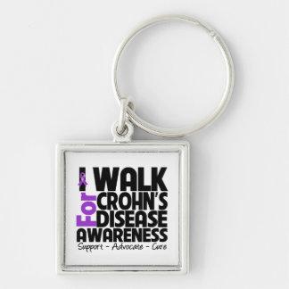 I Walk For Crohn's Disease Awareness Key Chain