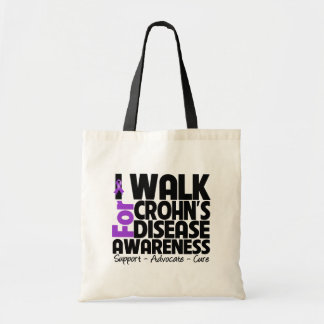 I Walk For Crohn's Disease Awareness Tote Bags