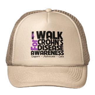 I Walk For Crohn's Disease Awareness Trucker Hat