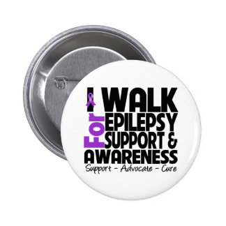 I Walk For Epilepsy Awareness Button