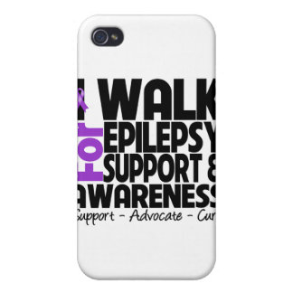 I Walk For Epilepsy Awareness iPhone 4 Covers