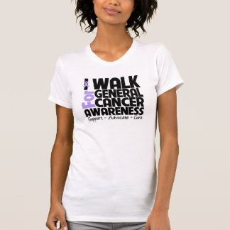 I Walk For General Cancer Awareness Tee Shirt